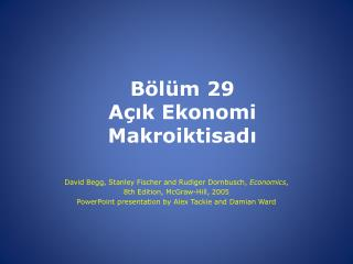 Bölüm  29 Açık Ekonomi Makroiktisadı