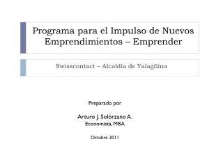 Programa para el Impulso de Nuevos Emprendimientos – Emprender