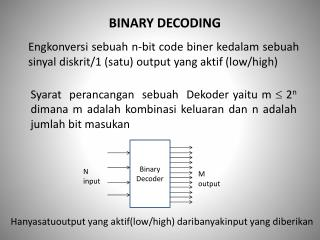 BINARY DECODING