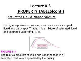 Lecture # 5  PROPERTY TABLES(cont.)