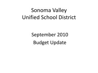 Sonoma Valley  Unified School District
