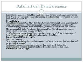 Datamart dan Datawarehouse