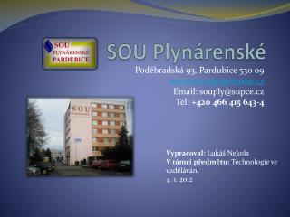 SOU Plynárenské