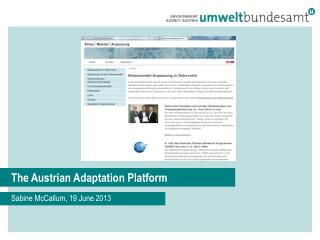 The Austrian Adaptation Platform
