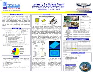 Laundry In Space Team Dept of Mechanical & Industrial Engineering, TAMUK