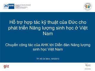 Giới thiệu về GIZ Hợp tác kỹ thuật ở Việt Nam Tập trung vào lĩnh vực năng lượng  Dự Án