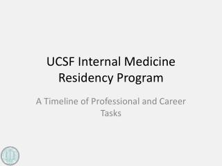 UCSF Internal Medicine Residency Program