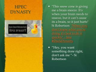 HPEC DYNASTY