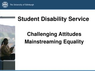 Student Disability Service
