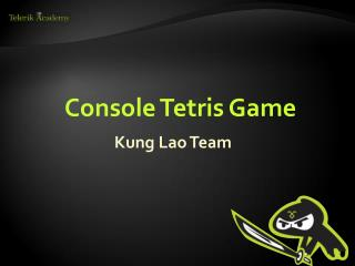 Console Tetris Game