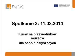 Spotkanie  3: 11.03.2014