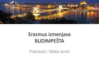 Erasmus  izmenjava BUDIMPEŠTA