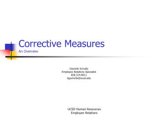 Corrective Measures An Overview