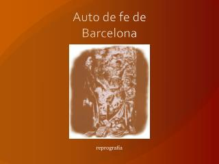Auto de fe de Barcelona