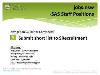 jobs.nsw * SAS Staff Positions