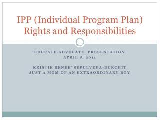 IPP Individual Program Plan Rights and Responsibilities