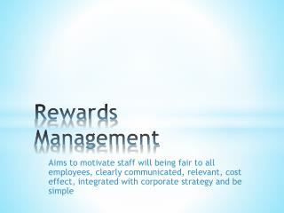 Rewards Management