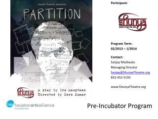 Pre-Incubator Program