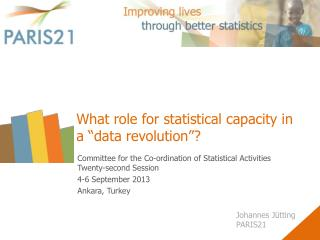 "What role for statistical capacity in a ""data revolution""?"
