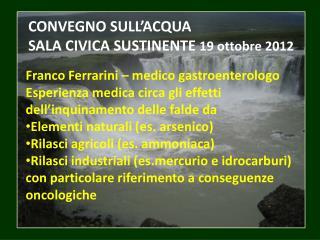 Franco  Ferrarini  – medico gastroenterologo