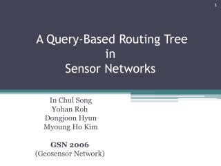 A Query-Based Routing Tree  in Sensor Networks