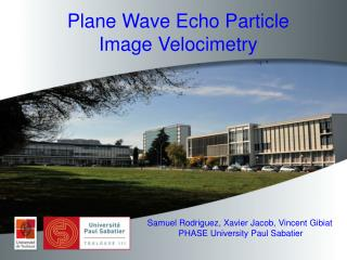 Plane  Wave  Echo  Particle  Image  Velocimetry