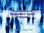 Human Resource Development: Future Strategies