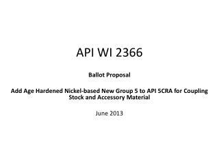 API WI 2366