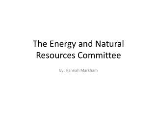 The Energy and Natural Resources Committee