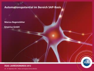 Automationspotential im Bereich SAP-Basis