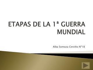 ETAPAS DE LA 1ª GUERRA MUNDIAL