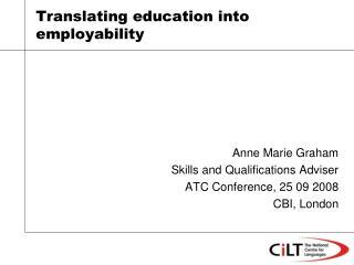 Translating education into employability