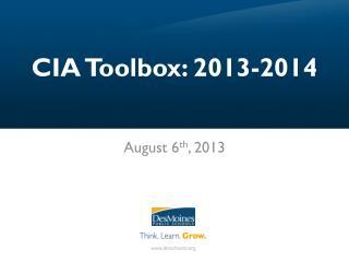 CIA Toolbox: 2013-2014