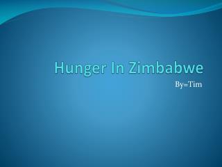 Hunger In Zimbabwe