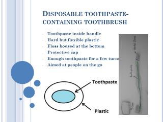 Disposable toothpaste-containing toothbrush