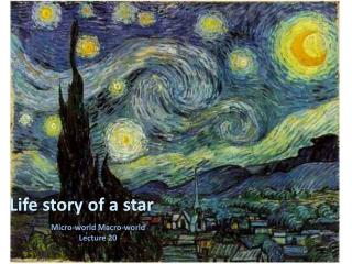 Life story of a star