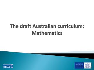 The draft Australian curriculum: Mathematics