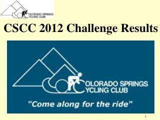 CSCC  2012 Challenge Results
