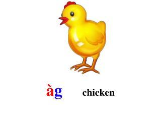 à g      chicken