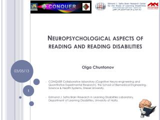 Neuropsychological aspects of reading and reading disabilities