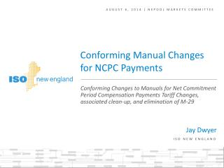 AUGUST 6,  2014 |  NEPOOL markets committee