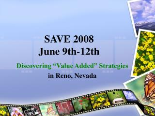 SAVE 2008 June 9th-12th