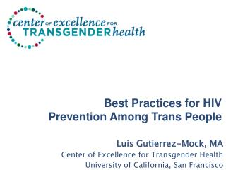 Best Practices for HIV Prevention Among Trans People