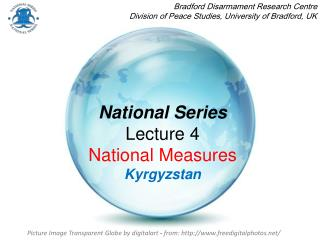 National Series Lecture 4  National Measures Kyrgyzstan