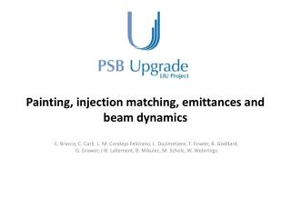 Painting, injection matching,  emittances  and beam dynamics