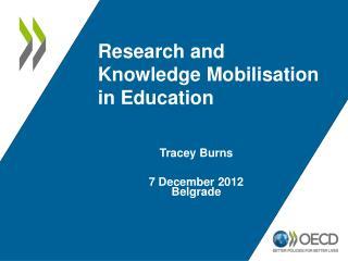 Tracey Burns 7 December 2012 Belgrade