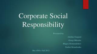 Corporate  Social  R esponsibility