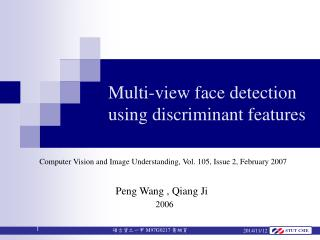 Multi-view face detection  using discriminant features