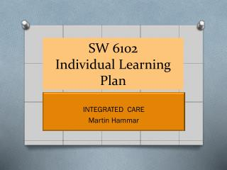 SW 6102 Individual Learning Plan