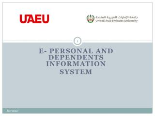 E- personal and dependents information  System